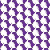 Patrón de fondo icono de dinosaurio Tyrannosaurus vector