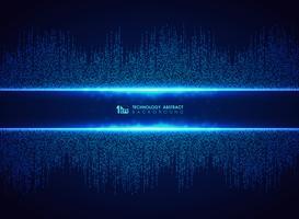 Abstrakte blaue Technologie des quadratischen Verbindungsmusterhintergrundes. Sie können für futuristisches Grafikdesign, High-Tech, Plakat, Buch, Grafik verwenden.
