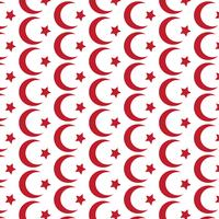 Pattern background Symbol of Islam Star crescent icon