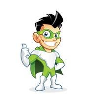 Superhero kid cartoon character