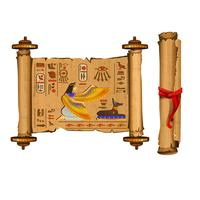 Ancient Egypt papyrus scroll cartoon vector