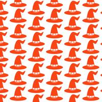 Pattern background halloween witch hat icon