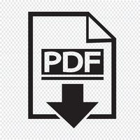 PDF icon  symbol sign vector