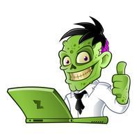 Zombie avec ordinateur portable