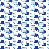 Pattern background talking bubble chat icon