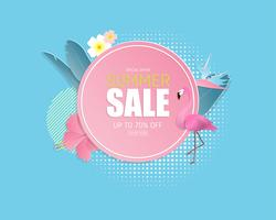 Summer sale banner background in paper cut style. Vector illustration design. poster. flyer. brochure. banner. template. promotion advertising.