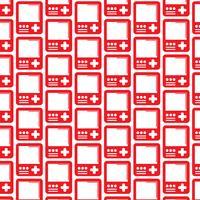 Muster Hintergrund Handheld-Spielkonsole-Symbol