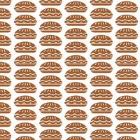 Pattern background food pie icon vector