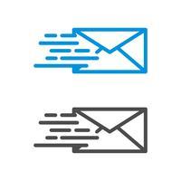 Schnelle Postvektor Logo Template Illustration Design. Umschlag-Vektor ENV 10.