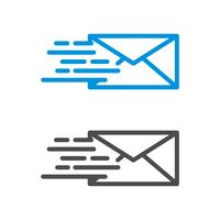 Logo Template Illustration Design di posta veloce. Busta vettoriale EPS 10.