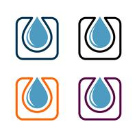 Tropfen-Wasser-Klempnerarbeit Logo Template Illustration Design. Vektor EPS 10.