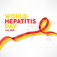 Design de vetor do dia mundial da hepatite