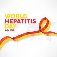 Design de vetor do dia mundial da hepatite