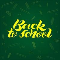 Bannière de lettrage de retour à l'école