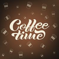 Vector hand drawn Coffee lettering banner