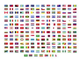 world flags collection vector