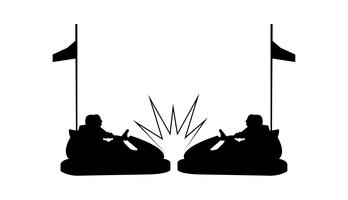 Autoscooter-Crash-Silhouette