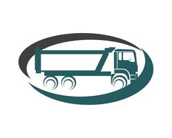 Logotipo de camión de carga vector
