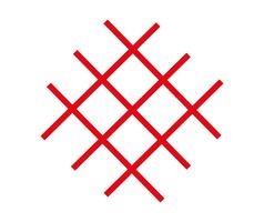 Vettore di linee rosse incrociate