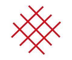 Vector de lineas rojas cruzadas