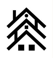three house roofs icon