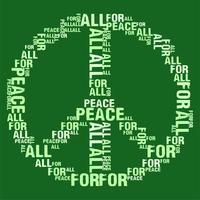 Peace For All Green BG