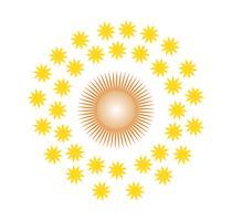 Stars around sun vector