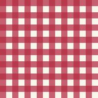 Pink Plaid Fabric Pattern