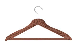 Wooden coat hanger vector