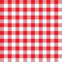 Red and Pink Plaid Fabric Pattern vector