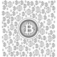 Bitcoin Lineart-patroon