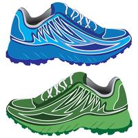 Double sport shoes vector