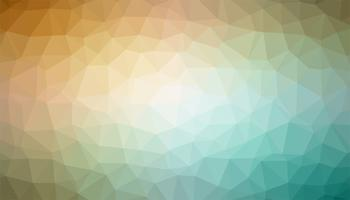 Yellow and turquoise triangulated background texture vector
