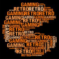 Retro Gaming Wordcloud Vector illustration