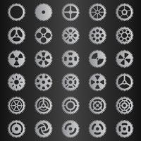 Conjunto gris claro colección de engranajes.