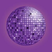 Disco boll med lila bakgrund vektor
