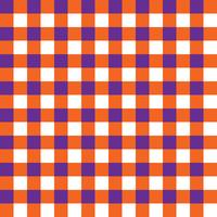 Purple and Orange Plaid Fabric Pattern