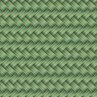Illustrazione senza cuciture di vettore del modello di vimini verde
