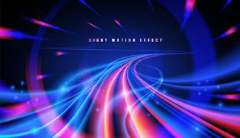 Abstract Light Trail in Vector