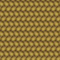 Golden Wicker Seamless Pattern vector
