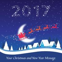 Carte de voeux de nouvel an