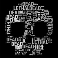 Dead Skull Black Vector Background