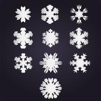Colección de vectores de copo de nieve