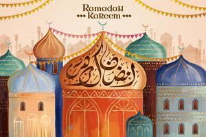 Caligrafia de Ramadan Kareem