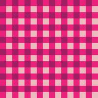 Tissu à carreaux rose et rose foncé