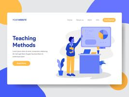 Landing page template of Private Tutoring Illustration  Concept. Modern flat design concept of web page design for website and mobile website.Vector illustration