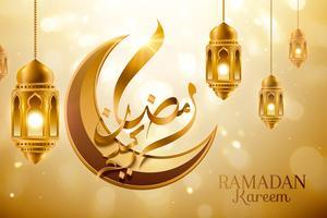 Gouden Ramadan-kalligrafie