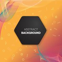 Tekstkader op abstract kleurrijk netwerk en geometrische achtergrond