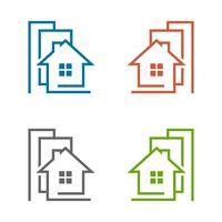 Hembyggnad Vector Logo Mall Illustration Design. Vektor EPS 10.
