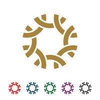 Fiore ornamentale per moda Logo Template Illustration Design. Vettore ENV 10.